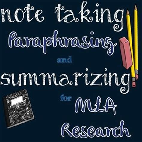 Types of Note Cards Quotation, Summary and Paraphrase APA